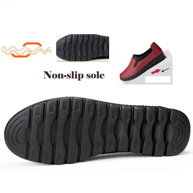 Women's Soft Leather Comfortable Slip-on Shoes