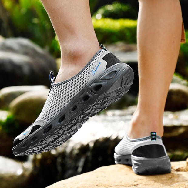 Women's Outdoor Net Cloth Breathable Soft Upstream Shoes