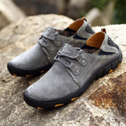 Men's Hiking Pigskin Leather Slip Resistant Outdoor Casual Shoes