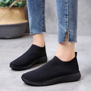 Women's Flying Woven Soft Breathable Fabric Non-slip Leisure Flats