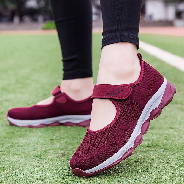 Women's  Spring and Summer Breathable Hollow Flying Woven Mesh Shoes