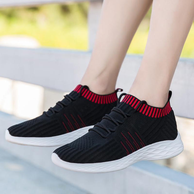Women's New Elastic Flying Woven Leisure Sports Shoes