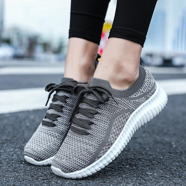 Women's Spring and Autumn Large Size Flying Woven Sneakers