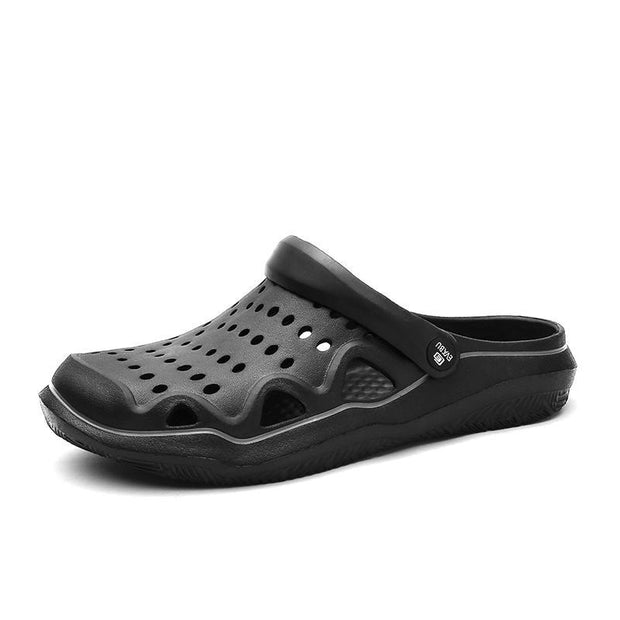 Men Hole Breathable Water Friendly Sandals Casual Beach Slippers