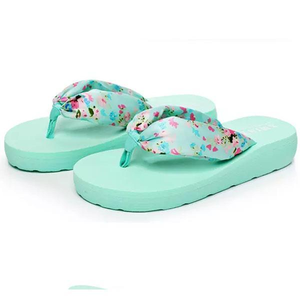 Women's Bohemia Floral Beach Thongs Slippers
