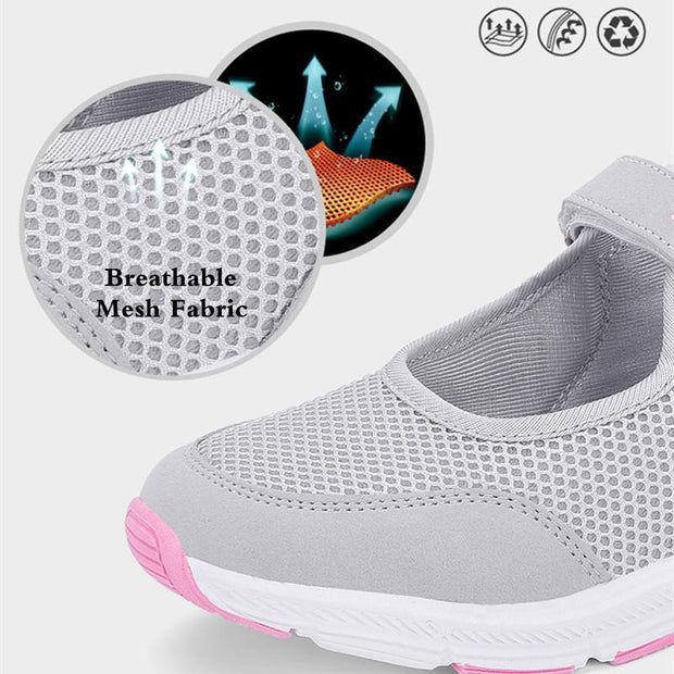 Spring Women Shoes Summer Female Breathable Mesh Cloth Anti-slip Sneakers Female Fashion 124496