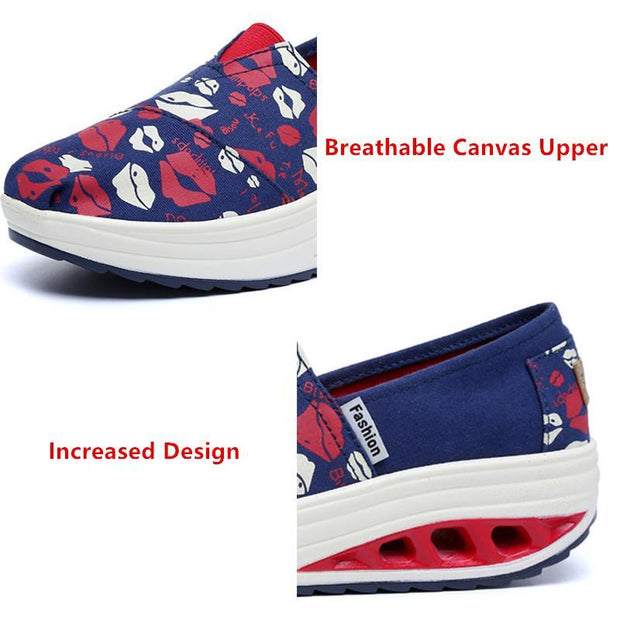 Women's Shoes Canvas Rocking Shoes Sports Shallow Mouth Casual Shoes 35-41 127928