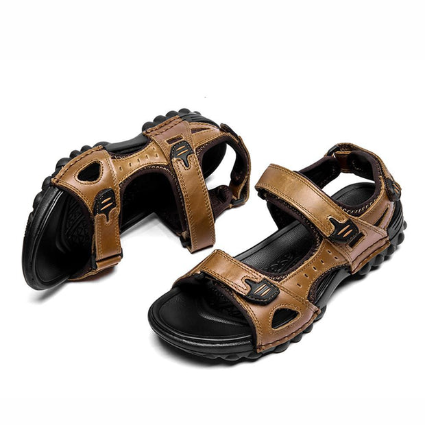 Men's Sport Outdoor Sandals Trail Leather Water Sandal Shoes  128890