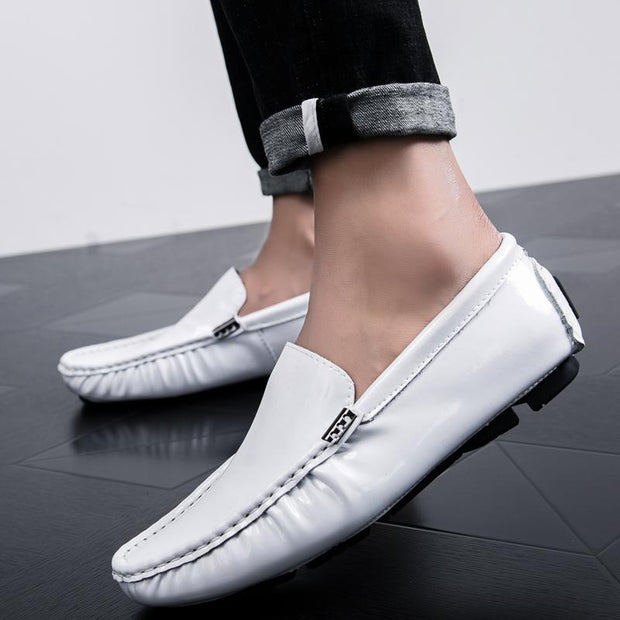 Men's bright leather fashion peas shoes 123814