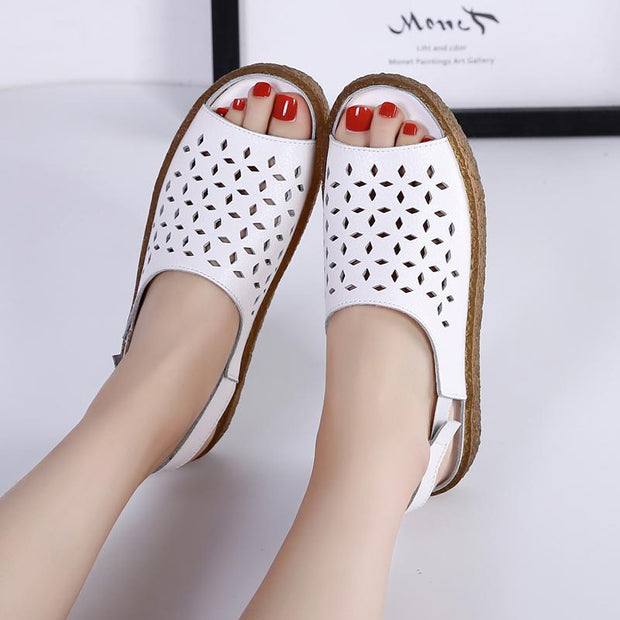 Women's  Shoes Large Size Hollow Female Sandals and Slippers Casual Shoes 35-43 124089