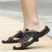 Men's Summer Fashion Stitching Sandals and Slippers 129960