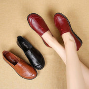 Round Toe Slip On Casual Flat Shoes For Women 131069