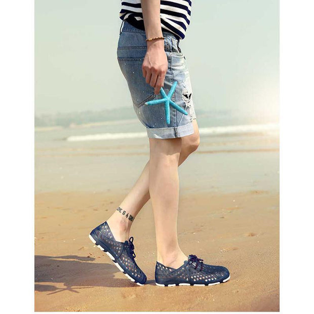 Summer ultra light beach shoes men's hole breathable shoes