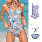 Women Summer Fashion Sexy Bikini Floral Print Beach One Piece 129893