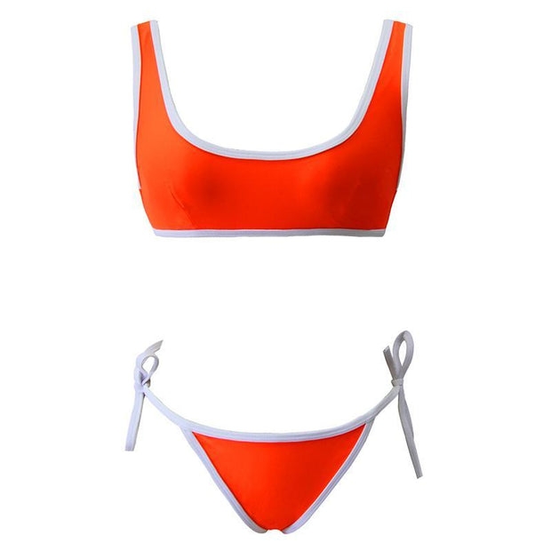 Women Summer Fashion Beach Contrast Color Swimsuit  131933