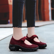 Women's Shoes Large Size Breathable Non-slip Flying Woven Shoes