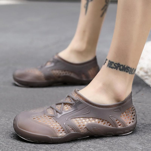 Men's fashion trend explosion models outdoor jelly hole shoes