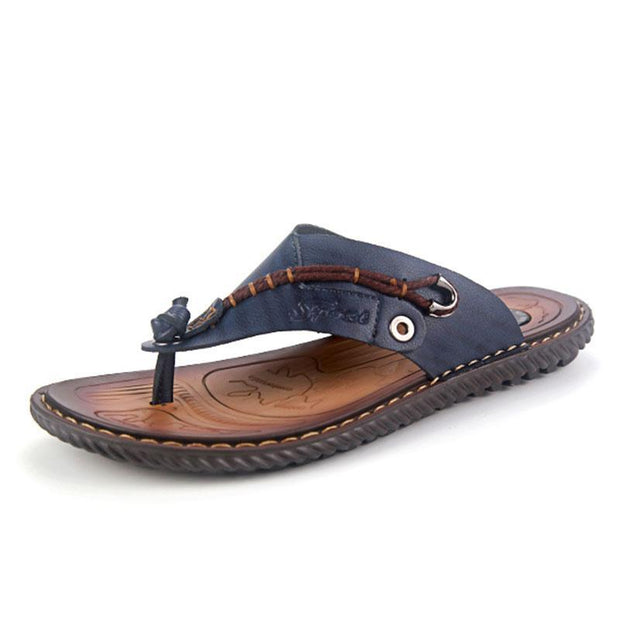 Men's Summer PU Outdoor Comfortable Beach Slippers
