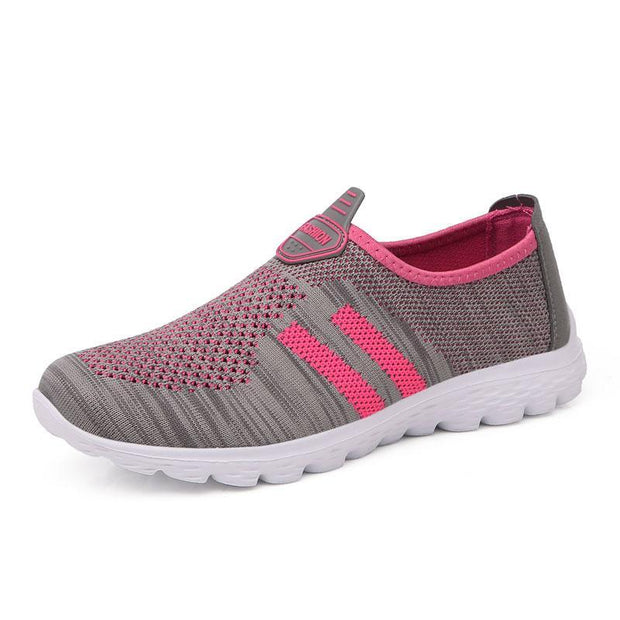 Women's Shoes Outdoor Leisure Flying Woven Hollow Shoes 134086