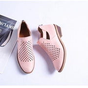 Leather Female Short Shoes Suitable Fashion Girl Shoes Hollow Design Martin Boots	 134706