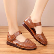 Women Hollow-Out Bow Knot Slip On  Round Toe Soft  Casual Loafers