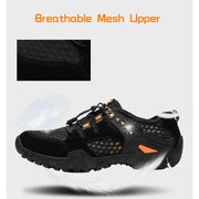 Large Size Leather Mesh Men's Shoes