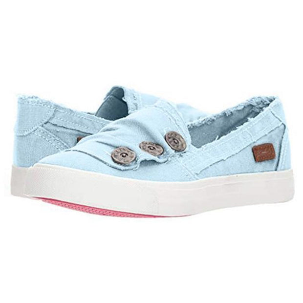 135895 Women Casual Button Comfy Sneaker