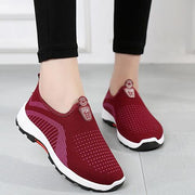Women Pattern Mesh Slip On Lazy Walking Warm Casual Loafers