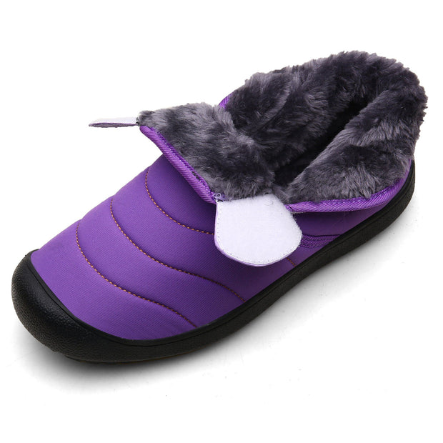 Women Snow Boots Fur Lined Winter Outdoor Slip On Shoes
