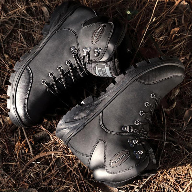 Men's Cold Plus Hair Warm Outdoor High-Top Casual Shoes