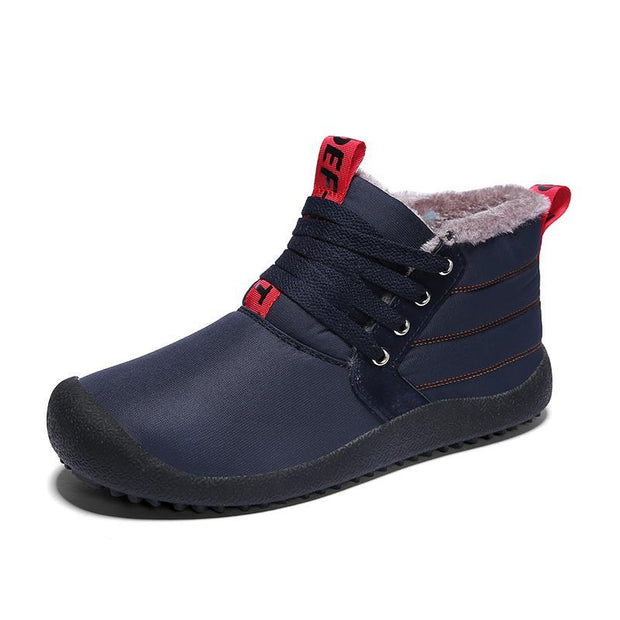 Men Trendy Comfortable Warm High-top Lace-up Boots
