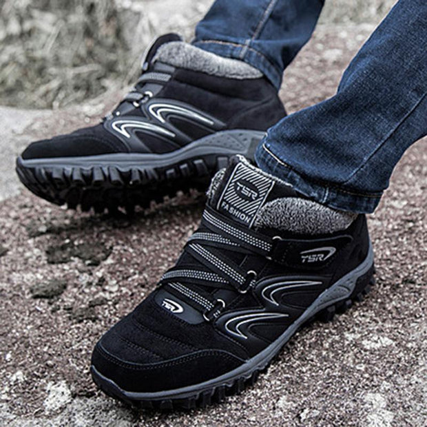 Men's Non-Slip Plus Velvet Health Warm Soft Bottom Outdoor Sports Shoes