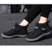Women's New Pure Warm Color Cloth Cotton Fabric Non-Slip Waterproof Boots