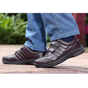 Men's Leather Cotton Athletic Casual Leisure Sneakers