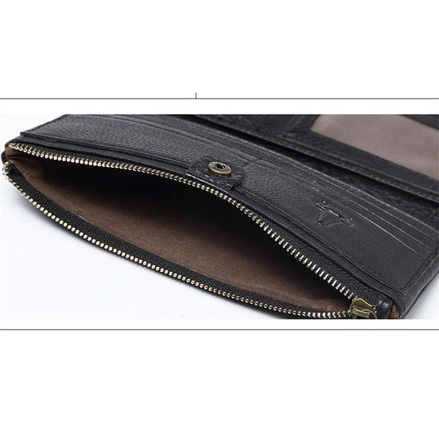 Women's Fashion Leather Zipper Wallet Long Wallet