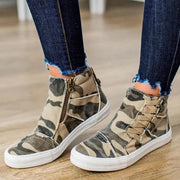 Women Casual Daily High Top Stylish Flat Sneakers