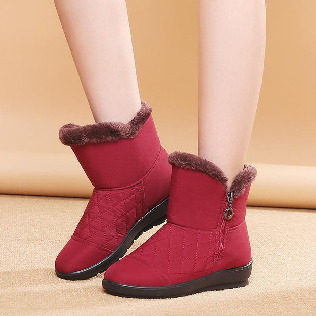 New Winter Plus Velvet Warm Non-slip Waterproof Middle-aged Cotton Shoes