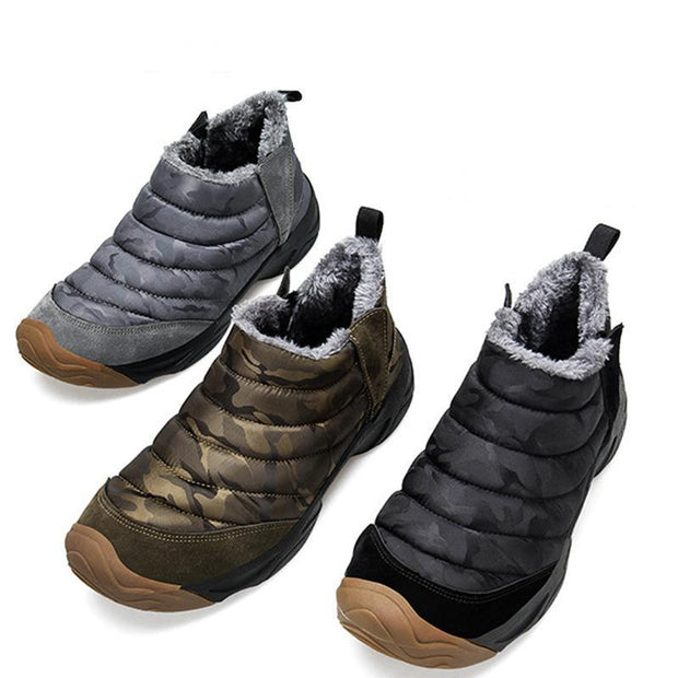 138112 Men's Korean version of the trend plus velvet cotton shoes 45 yards fashion wild cotton shoes