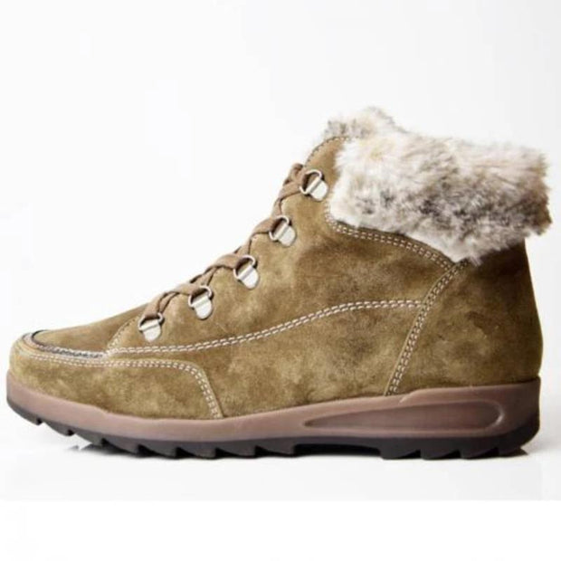 Women PLus Size Daily Lace up Soft Winter Boot