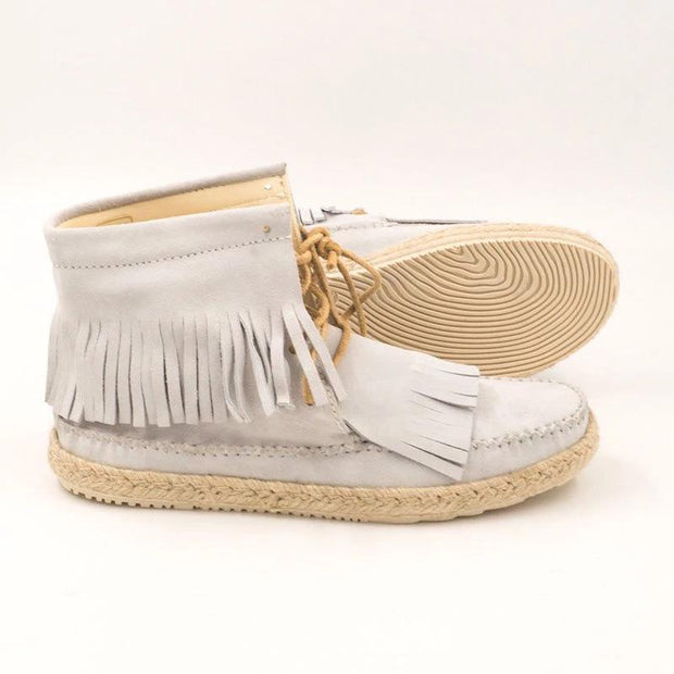 Women's tassel low heel ankle boots