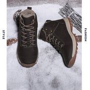 139121 Outdoor Men's Shoes Winter Cotton Shoes Non-slip Thick-soled Hiking Shoes Comfortable And Flexible Tooling Shoes