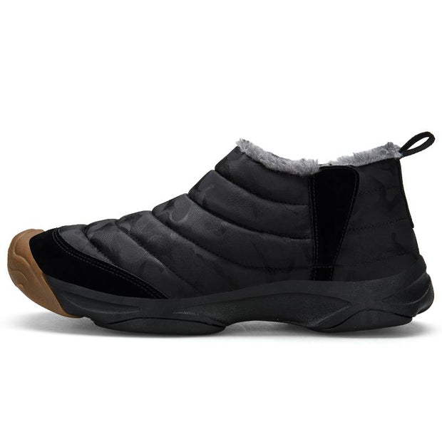 Men's casual shoes camouflage lazy shoes and cotton in winter to keep warm