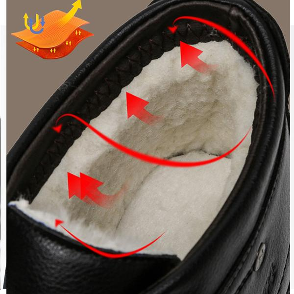 Cold sticky new men's shoes autumn and winter pu shoes Korean version plus velvet cotton shoes men's lightweight business men's shoes thick cotton shoes