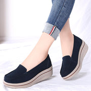 Women breathable bottom thick platform shoes boat shoes