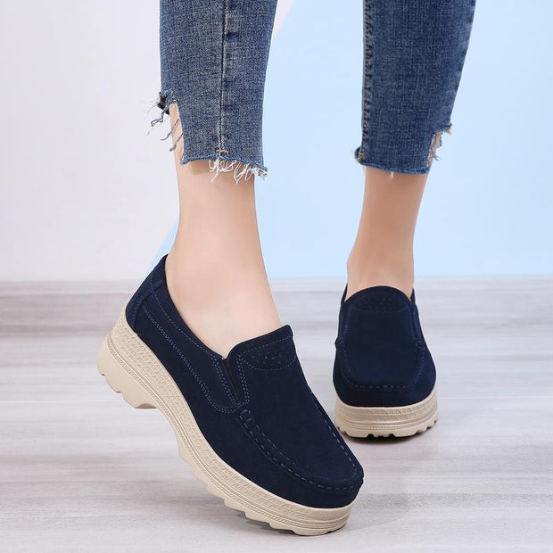 Women increased leisure breathable shoes large base platform shoes