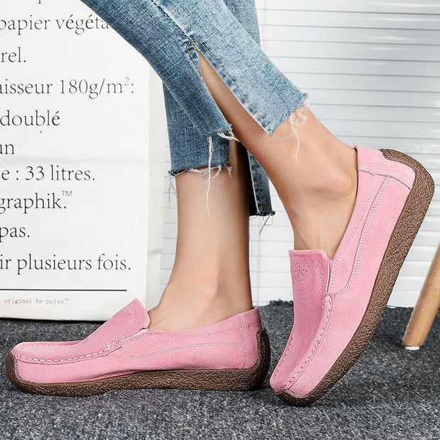 Women breathe freely and comfortable casual shoes walking shoes with flat sole