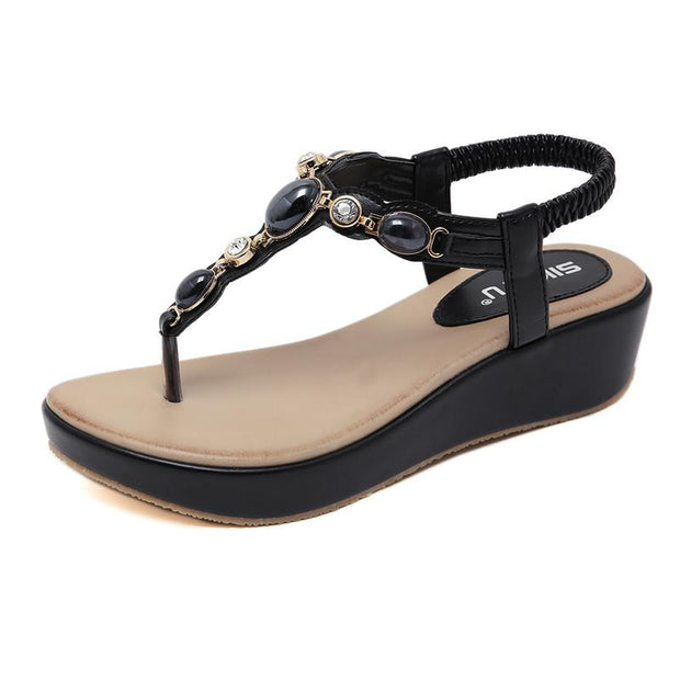 women's Sandals Summer Fashion Soft Bottom non-slip woman wedge Sandals Bohemia Beach Sandals Woman Sandals plus size 42