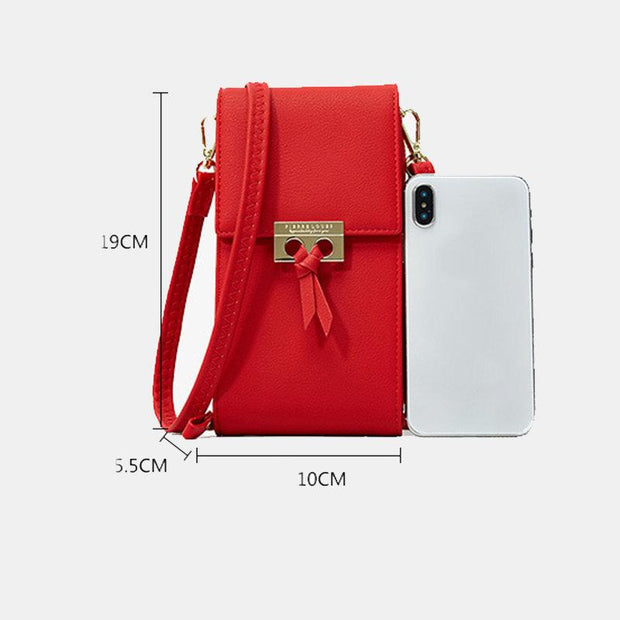 136211 Women Phone Bag Solid Crossbody Bag
