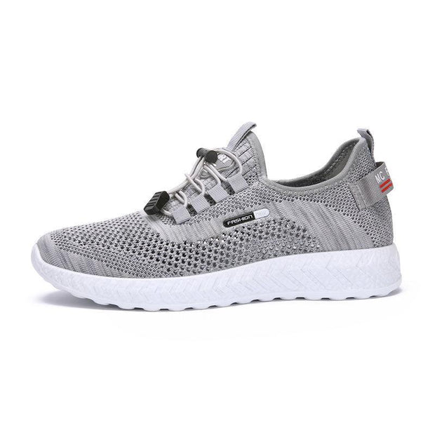Men Knitted Fabric Breathable Soft Light Weight Sport Running Shoes