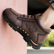 Men's Korean version of the trend of leather European and American mice plus velvet warm cotton shoes